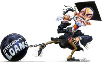student-in-cap-gown-with-student-loan-ball-and-chain